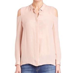 Blush Cold Shoulder Button Up Blouse